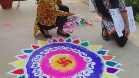 Rangoli and Face Painting 2016